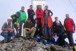 Die Kili-Anwärter auf dem Traunstein  (Klick auf das Bild zur Fotoübersicht)